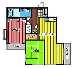 シャンブル・ドゥ・ミヤザキ[3階]の間取り