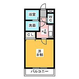 リッツハウス[1階]の間取り