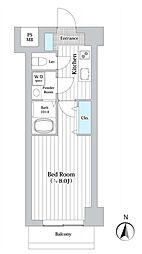 JR東海道本線 川崎駅 徒歩5分の賃貸マンション 5階1Kの間取り