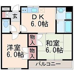 アッピアコート[3階]の間取り