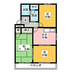オズハウス5[2階]の間取り