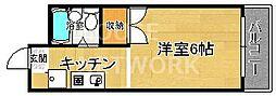 パラドール円町[104号室号室]の間取り