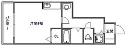 セピアコート2 A棟[1階]の間取り