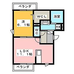 コンフォルティア[2階]の間取り
