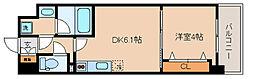 神戸市海岸線 中央市場前駅 徒歩5分の賃貸マンション 4階1DKの間取り