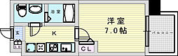 阪急宝塚本線 三国駅 徒歩5分の賃貸マンション 7階1Kの間取り