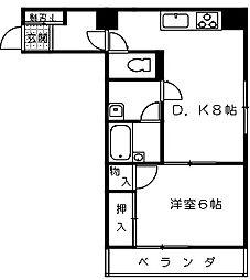 桜木ハイム[603号室]の間取り