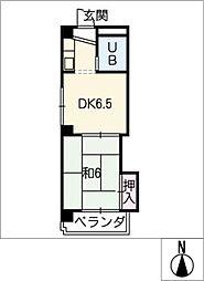 松栄栢ノ木ビル[3階]の間取り