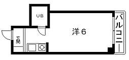 レディース大鉄[502号室号室]の間取り