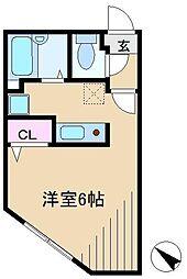 ZESTY小石川(ゼスティ小石川)[4階]の間取り