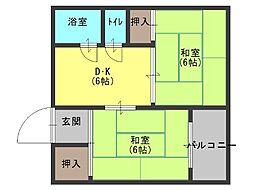 メゾンロータリー[3階]の間取り