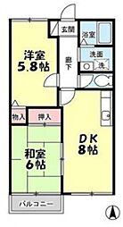 サニーハウス[203号室号室]の間取り