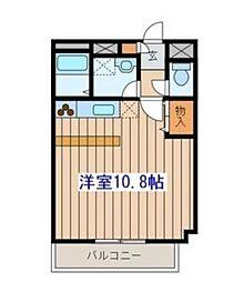 JR仙山線 東北福祉大前駅 徒歩18分の賃貸マンション 4階ワンルームの間取り