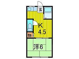 錦荘C[101号室]の間取り