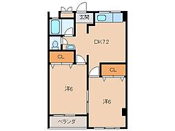 エニシダ紀ノ川マンション[4階]の間取り
