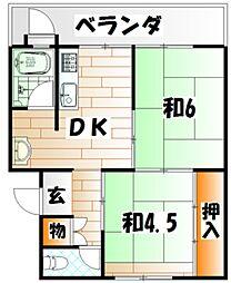ビレッジハウス苅田 1号棟[1階]の間取り