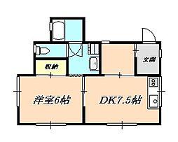 舞子坂ハイツ[2階]の間取り