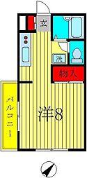 千葉県柏市つくしが丘4の賃貸アパートの間取り