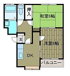 ドミールヒロタ[2階]の間取り