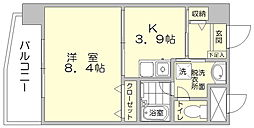 福岡県福岡市博多区住吉4丁目の賃貸マンションの間取り