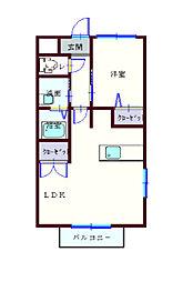 ワンズハウス[1階]の間取り