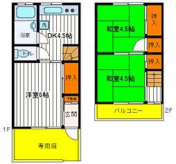 [テラスハウス] 東京都昭島市中神町 の賃貸【/】の間取り