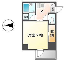 セントラルハイツカシノ[2階]の間取り