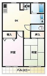 パルデンス鶴ヶ島[1階]の間取り