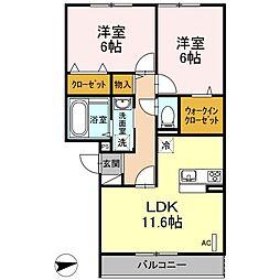 仮)D-room戸田[302号室]の間取り