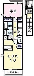 東京都東久留米市幸町4丁目の賃貸アパートの間取り