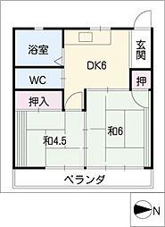 市松ビル[3階]の間取り