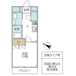 Arcadia TSUKUBA[302号室号室]の間取り