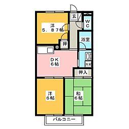 サープラスIII伊藤[1階]の間取り