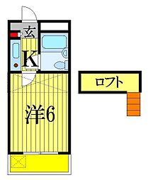 ジュネパレス津田沼第24[2階]の間取り
