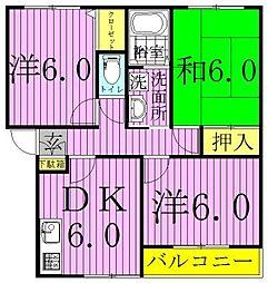 中野ハイツA[1階]の間取り