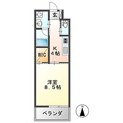 U・TOPIA 36 1階1Kの間取り