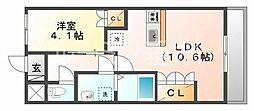 アンシャンテ(小野)[1階]の間取り