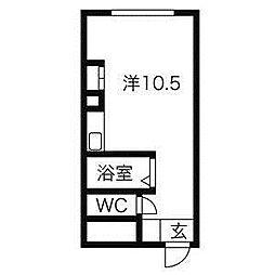 北海道札幌市中央区南七条西18丁目の賃貸マンションの間取り