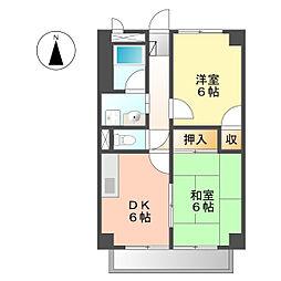 サープラスツー野菊(サープラスII野菊)[203号室]の間取り