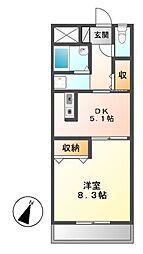 オータム・ライトⅤ[3階]の間取り