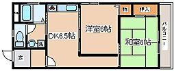 兵庫県神戸市長田区長楽町5丁目の賃貸マンションの間取り
