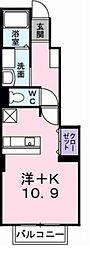 メゾネットアンジュ弐番館[104号室]の間取り