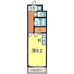 ゴールドマンション安井[223号室]の間取り