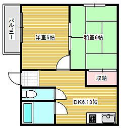 エルタイガーマンション2番館[4階]の間取り