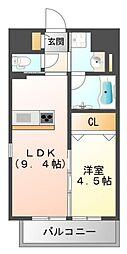 第25関根マンション[11階]の間取り
