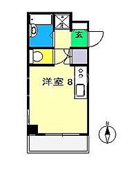 エトワール鴨部Ⅱ[3階]の間取り