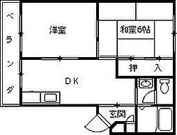 ハイツ室川2[302号室]の間取り