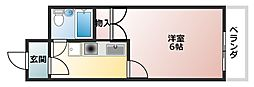 シャトーウエダ[3階]の間取り