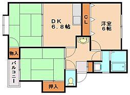 メモリー五郎丸[2階]の間取り