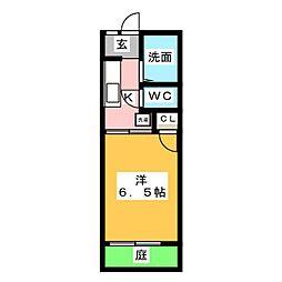 タウニー上名古屋[1階]の間取り